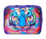 """Папка-сумка А4 36х27х8см ткань """"Разноцветный тигр"""" (арт. 2Ш48_1038) 1038 /20/"""