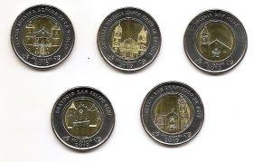 Храмы Панамы 1 бальбоа Панама 2019 Набор 5 монет