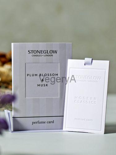 Ароматная карточка (визитка) Цветы сливы и Мускус Stoneglow Современная Классика
