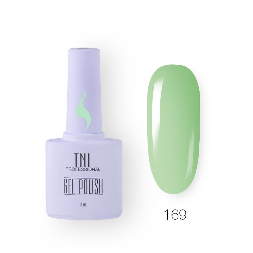 Гель-лак TNL 8 Чувств №169 - райский зеленый (10 мл.)