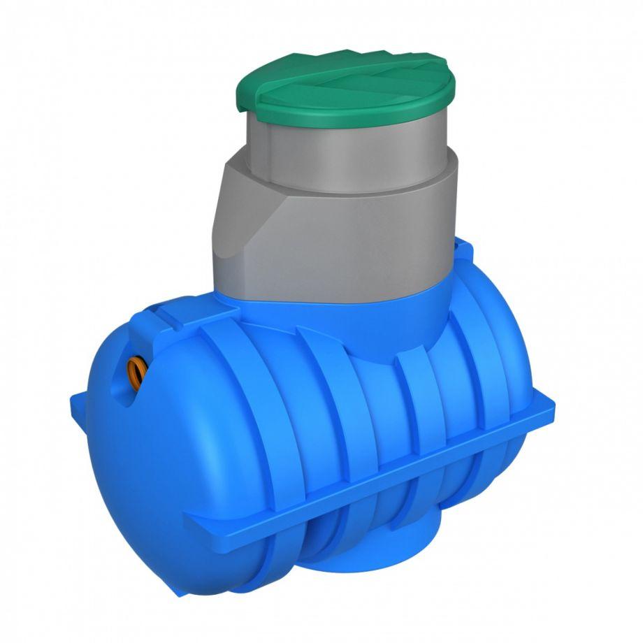 Подземная емкость 1250 литров Rostok синяя для питьевой воды
