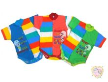 """Боди для новорожденных с коротким рукавом A-BD135-SUkr(pl) (супрем) код товара 01453 """"Мамин Малыш"""" (цвет в ассортименте)"""
