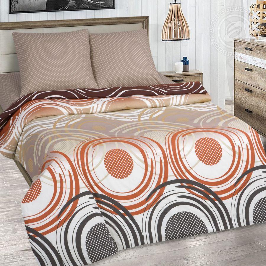 «Галактика» (DE LUXE с простынью на резинке) постельное белье Поплин 2-х спальный
