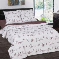 «Мокко» (DE LUXE с простынью на резинке) постельное белье Поплин 1.5 спальный
