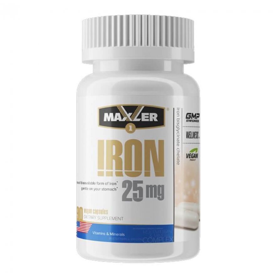 Maxler Iron 25мг, 90 капсул