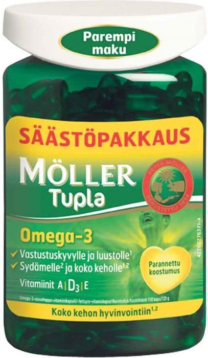 Витамины Moller Tupla Omega 3 (150 капсул)