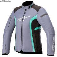 Куртка женская Alpinestars Stella T-Kira V2 Waterproof, Cветло-серая с черным