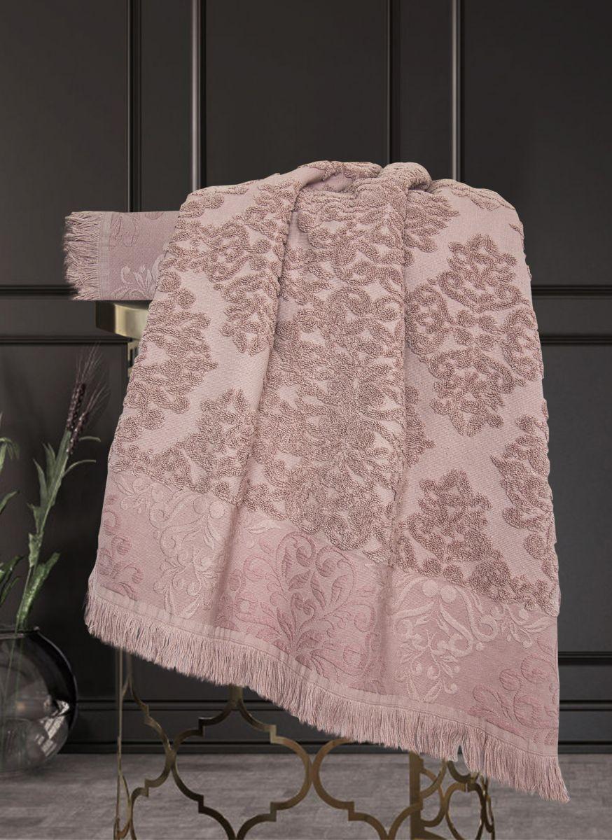 Полотенце Барокко Жаккардовый хлопок (старо-розовый) 50х90см