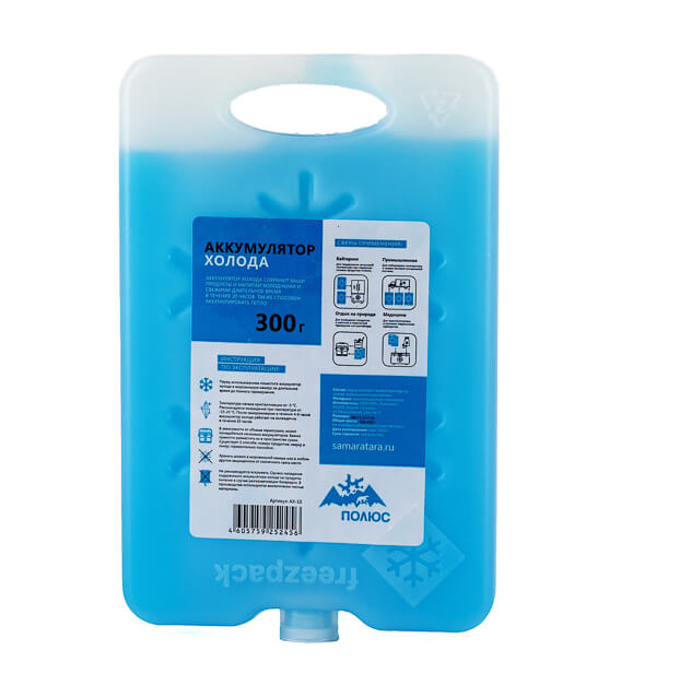 Аккумулятор холода для холодильника АХ-10 (300 гр)
