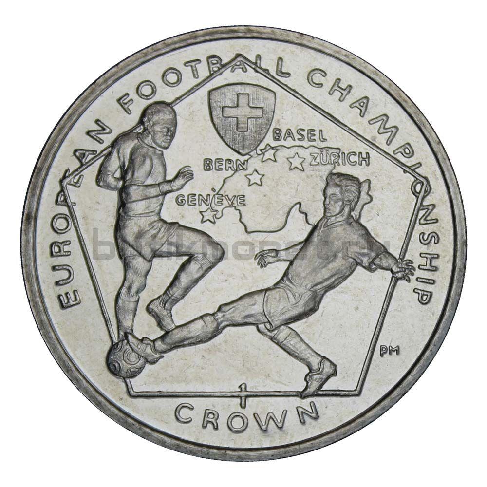 1 крона 2008 Остров Мэн Футболисты Чемпионат Европы по футболу 2008