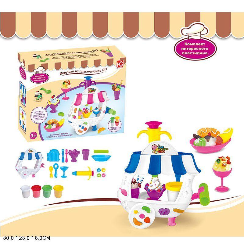 """Набор игрового пластилина """"тележка с мороженным"""" (677-C413)"""