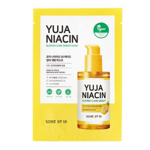390640 SOME BY MI Тканевая маска для лица с экстрактом юдзу YUJA NIACIN BLEMISH CARE SERUM MASK
