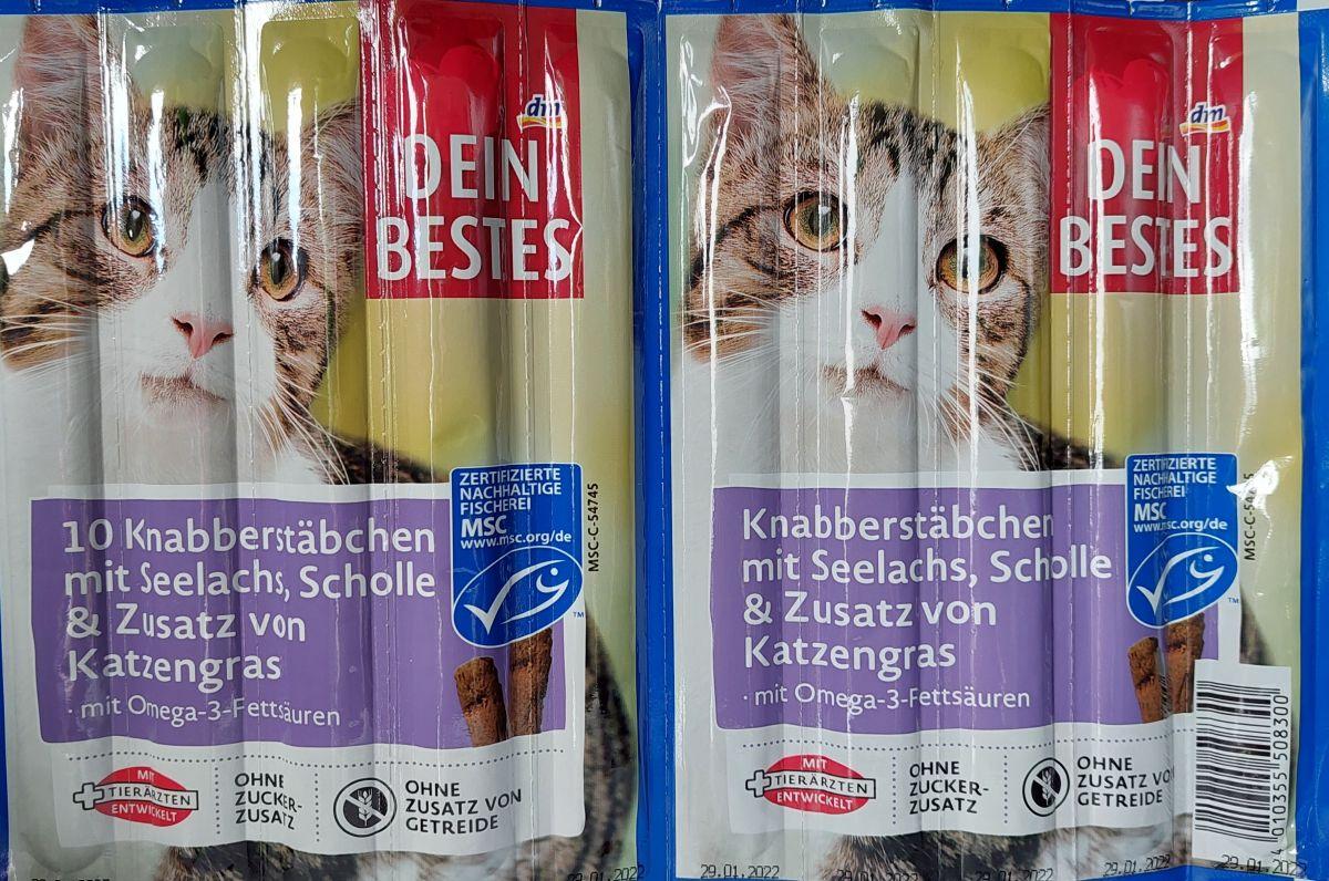 Палочки для кошек Dein Bestes с Лососем 10 шт