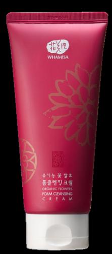 Пенящийся крем для умывания Whamisa Organic Flowers Foam Cleansing Cream