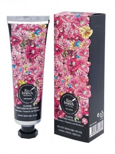Eco branch Крем для рук Flower Perfumed Hand Cream Shea Butter With Rose 40гр