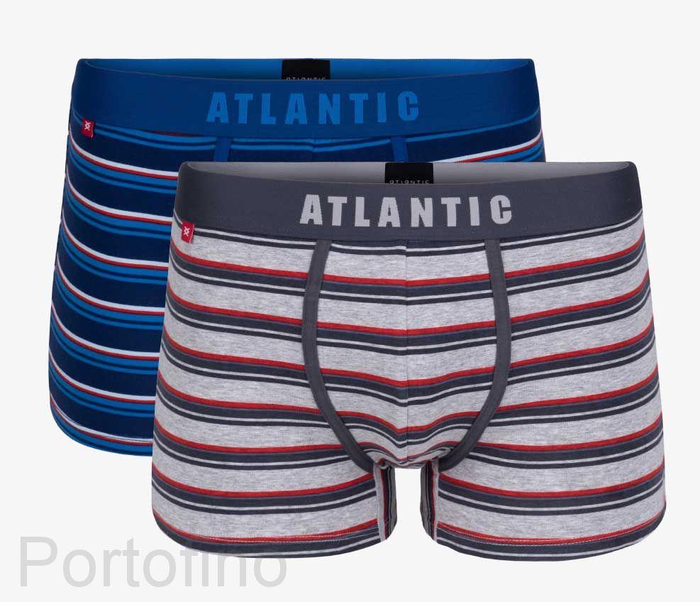 2MH-1184 Трусы шорты Knitted stripes Atlantic -набор 2 шт.