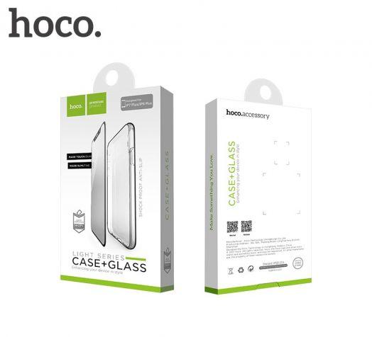 Защитный чехол + пленка HOCO Light series для iPhone 6 Plus/6S Plus, черный полиуретан