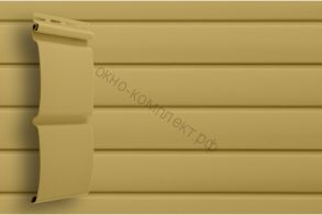 Сайдинг Блок-хаус Amerika (0.73м2) (3,0*0,244м) Цвет: карамельный ,темно-бежевый . Под заказ