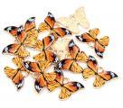 фото Подвеска (кулон/ шарм) Бабочка с эмалью из металла R7-22коричневый