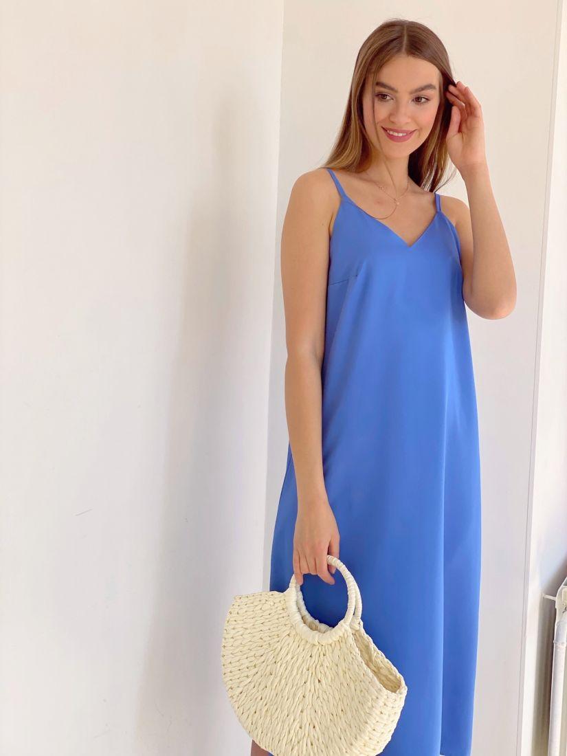 3260 Платье-комбинация в цвете cornflower