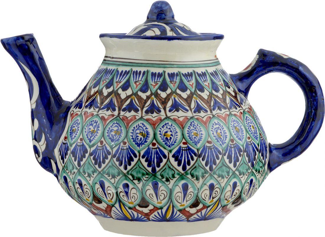 Чайник узбекский Риштан, 2 литра, ручная работа
