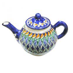 Чайник узбекский Риштан, 1 литр, ручная работа