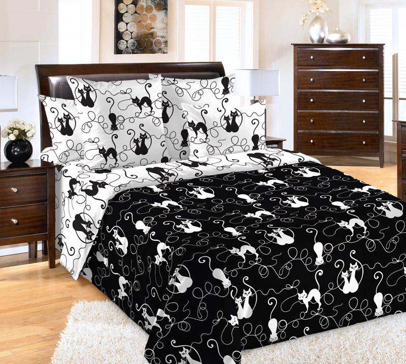 «Котофей 1» (С простыней на резинке) постельное белье Бязь 2-х спальный [распродажа]
