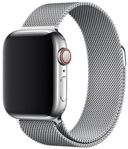 Ремешок миланская петля для часов Apple Watch  38/40mm серебро