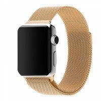 Ремешок миланская петля для часов Apple Watch  38/40mm золотой