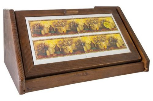 Деревянная хлебница с керамическими вставками Натюрморт LCS994V-AL