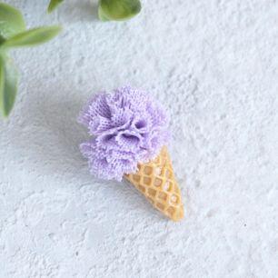 Кукольный аксессуар - Мороженое черничное 3 см.