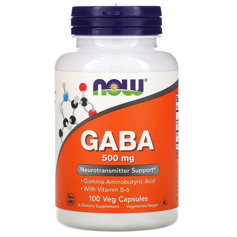 Gab Now Foods, ГАМaК, 500 мг, 100 вегетарианских капсул