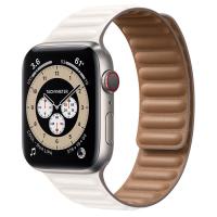 Ремешок Apple Watch Series 6 Chalk Leather Link (для корпуса 44 мм)