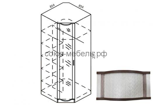 Симона Шкаф угловой с зеркалом Ш-УГ-Z