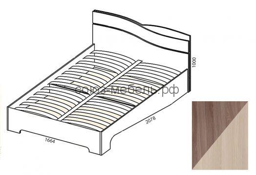 Сорренто Кровать КР-2