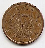 5 евроцентов Испания 2003 регулярная из обращения