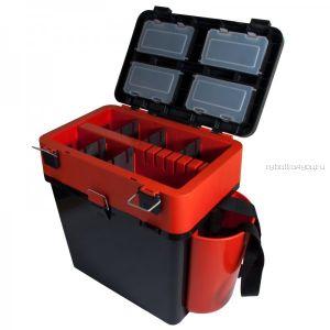Ящик зимний рыболовный Helios FishBox, 19л, оранжевый