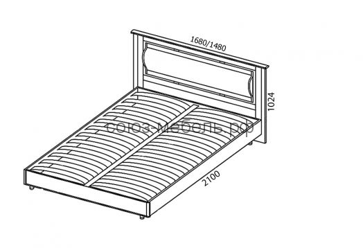 Спальня Камелия (тумба ТУ+кровать КР+тумба ТМ 2 шт+шкаф ШУ+шкаф угловой ШУ-Z+шкаф ШУ+комод КМ)
