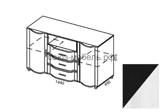 Спальня Камелия (тумба ТУ+пенал ПУ+шкаф угловой ШУ-Z+пенал ПУ+тумба ТМ+кровать КР +тумба ТМ)