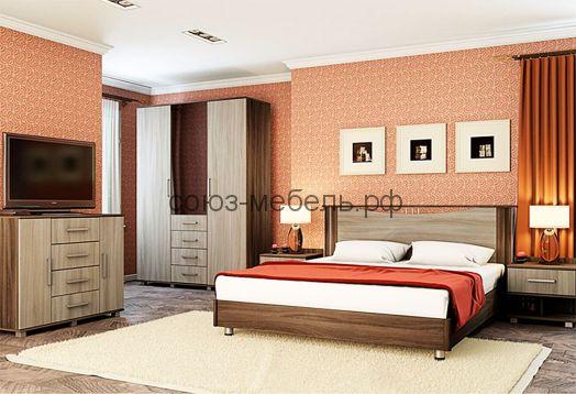 Спальня Венеция (шкаф+комод+тумбочка+кровать)