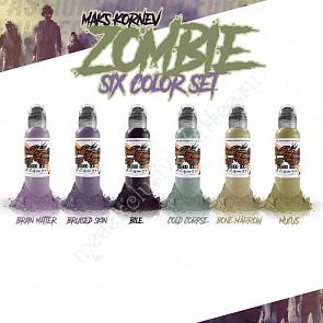 World Famous Ink MAK'S KORNEV ZOMBIE 6 BOTTLE SET 1oz