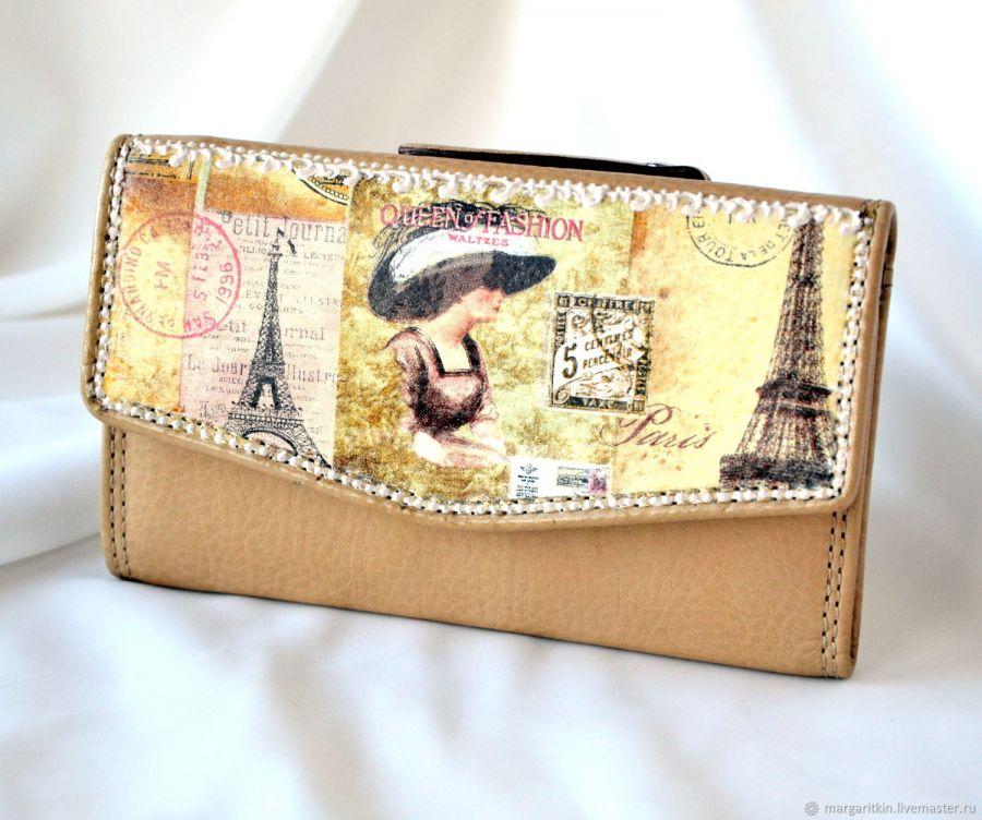 Кожаный кошелёк женский Fashion queen