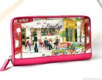 Кожаный кошелёк женский Cafe de Paris