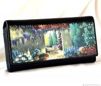 Кожаный кошелёк Итальянский дворик