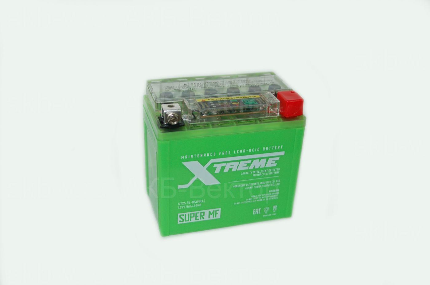 Xtreme iGel 4Ач UTX5,5L (YTX5L-BS)