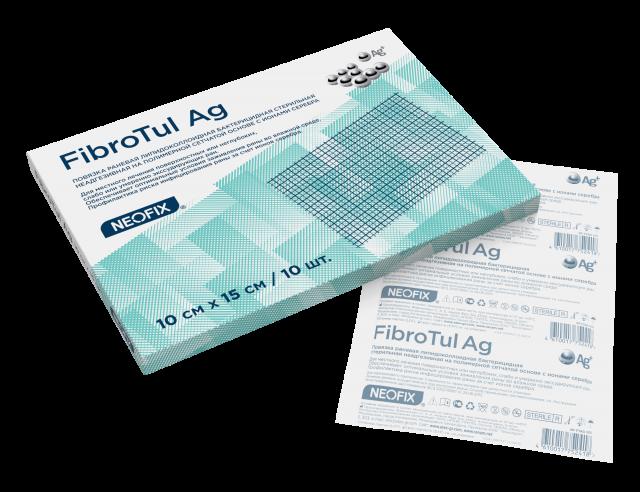 Неофикс Фибротюль Аг( Neofix Fibrotul Ag ) - Повязка раневая липидоколлоидная с ионами серебра, 15 см x 10 см