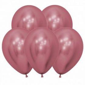 """Рефлекс Розовый, (Зеркальные шары), 5""""/12,5 см,  50 шт, Sempertex"""