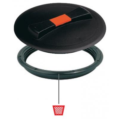 Крышка для емкости D620 мм резьбовая пластик