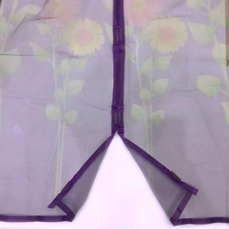 Дверная антимоскитная сетка с рисунком на 7 магнитах-птичках, 100х210 см