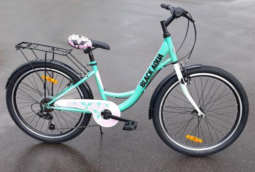 Велосипед Black Aqua City 1421 V 24 Мятный